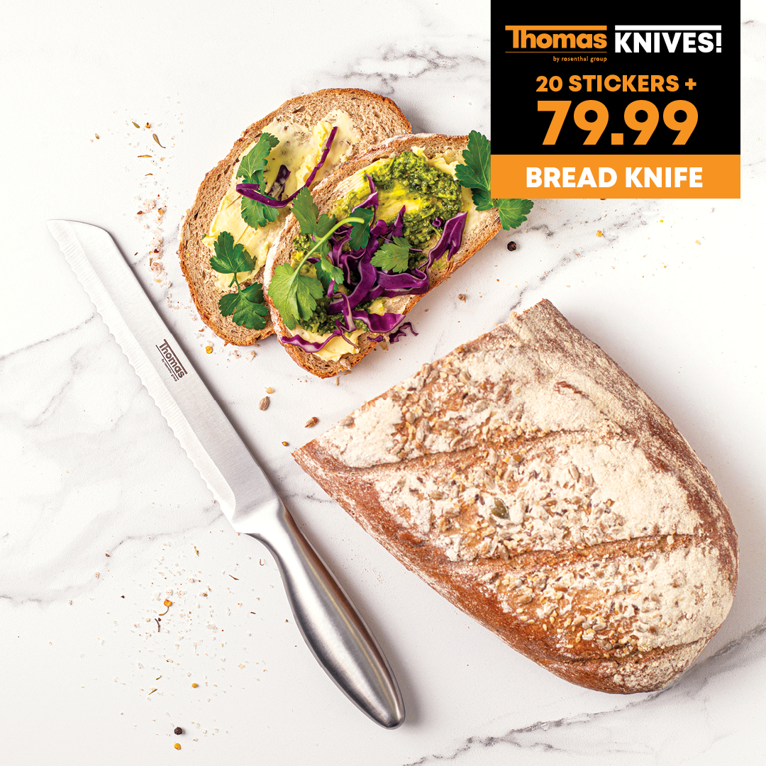 BE SHARP & SAVE ON THOMAS KNIVES AT FOOD LOVER'S EATERY