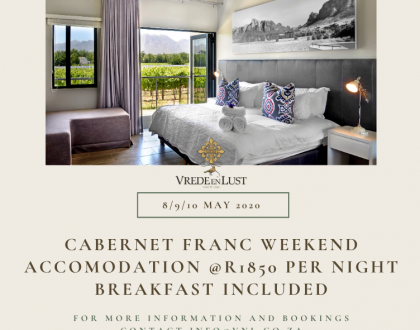 Cabernet Franc festival - Accommodation Special