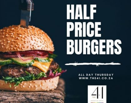 BURGER SPECIAL AT THE 41
