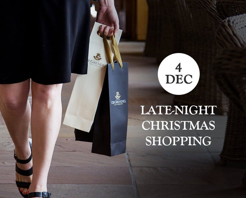 Late Night Christmas Shopping At De Grendel Wines