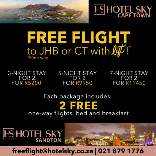 A FREE FLIGHT WITH HOTEL SKY