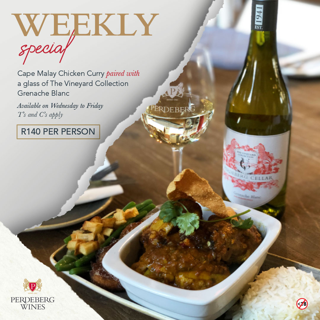 WEEKLY CURRY SPECIAL AT PERDEBERG